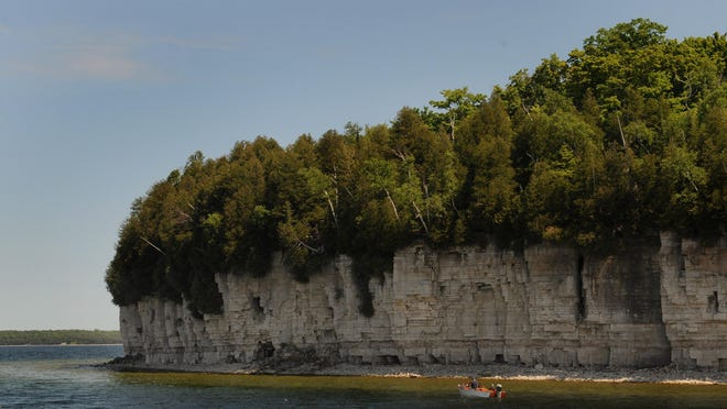 Door County is part of the Niagara Escarpment, which includes lush forests and unique rock formations.