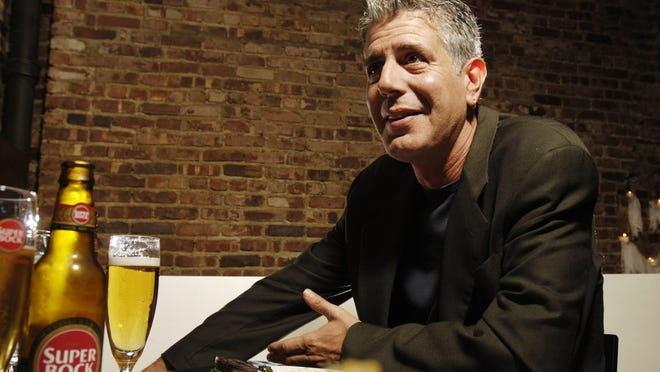 Celebrity chef Anthony Bourdain photographed at Tintol restaurant in New York's Times Square on April 12, 2006. Bourdain was found dead in his hotel room on June 8, 2018 of an apparent suicide. (James Keivom/New York Daily News/TNS)