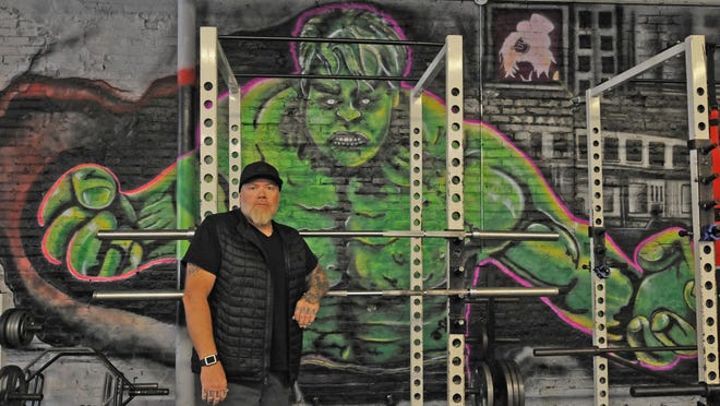 Artist Colin Bensen painted The Hulk, The Rock, Rhonda Rousey, Snoop Dogg and Flash inside the Sharp Performance north facility, 300 N. Ninth Street, in Salina. Bensen is looking forward to working on other projects around the Salina area.