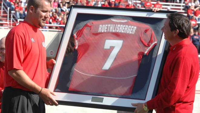 Ben Roethlisberger has his No. 7 retired by Miami University in October of 2007.