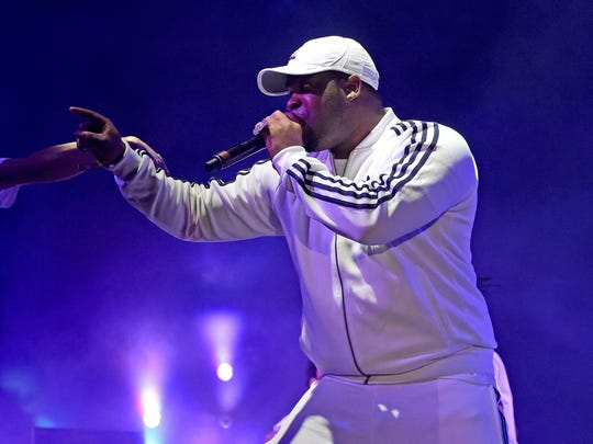 ASAP Ferg performs onstage during Day 1 of the 2016 Coachella Valley Music & Arts Festival Weekend 2 in California. Ferg co-headlined the 515 Alive Music Festival in Des Moines on July 23.