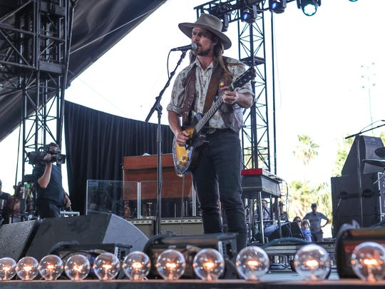 Apr 29, 2018; Indio, CA, USA; XXX Lukas Nelson & Promise of the Real at the Stagecoach Country Music Festival at Empire Polo Club.