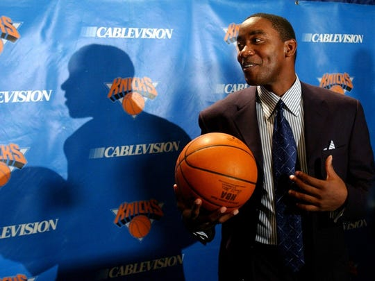 Isiah Thomas, the new president of the New York Knicks,