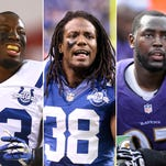 Vontae Davis (from left), Sergio Brown and Arthur Jones: Colts for the 2014 season