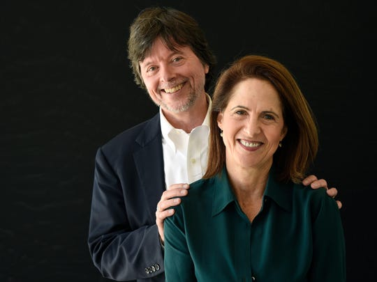 "Ken Burns, left, and Lynn Novick, co-directors of the PBS documentary series ""The Vietnam War,"" pose for a portrait during the 2017 Television Critics Association Summer Press Tour at the Beverly Hilton on July 28, 2017, in Beverly Hills, Calif."