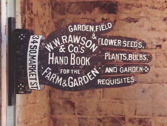 Reproduction and original antique signage