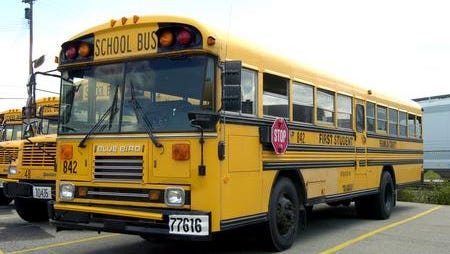 A First Student school bus