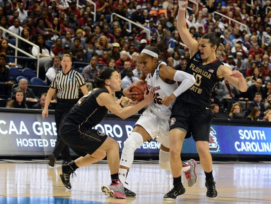 NCAA Womens Basketball: NCAA Tournament-Greensboro Regional: South Carolina v Florida State