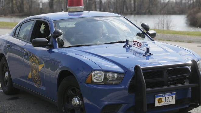 A MIchigan State Police patrol car. troopers targeted aggressive and distracted drivers Tuesday on I-94 in St. Clair Shores.