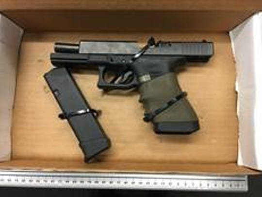 Oxnard police confiscated a weapon after the report of an armed robbery.