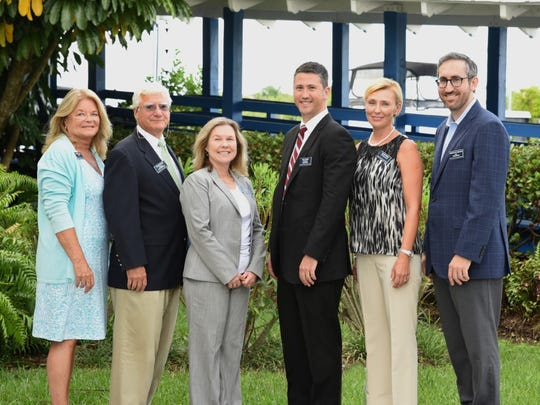 Joanne Towner, David Pittinos, Lisa Clasen, Kelly Buist, Galina Koval and Nicholas Ferraro of the Martin County Estate Planning Council