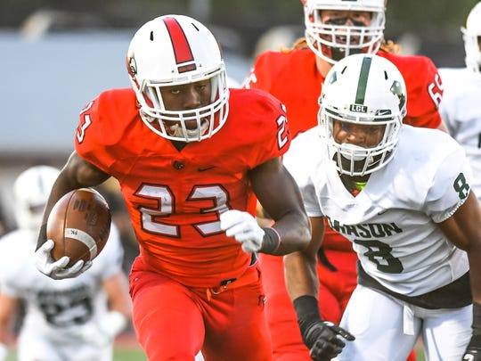Colerain's JJ Davis runs for a touchdown against Mason Sept. 29, 2017