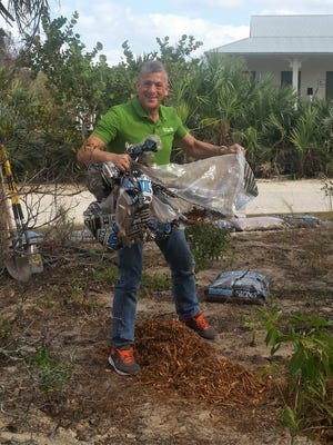 Over 50 volunteers including Commissioner Joe Flescher worked hard to replant the front entrance of this historic property with an all native pollinator garden, remove exotic species, and re-plant the dune which was badly damaged in Hurricane Matthew.
