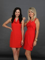 Daughter and mom, Alex and Pam Hendrickson, are ready for the runway or just hanging out togehter.