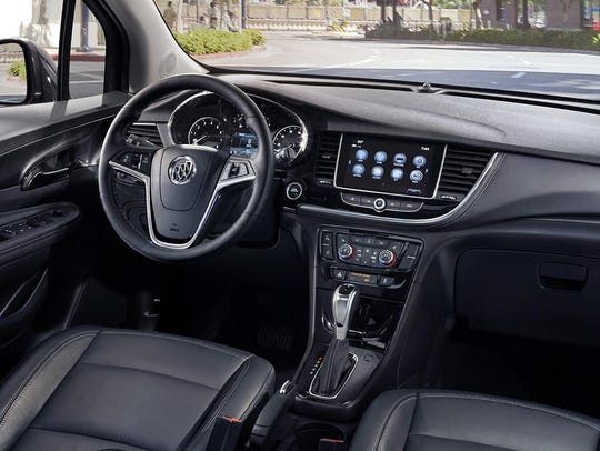 The Encore comes with OnStar and a built-in Wi-Fi hotspot.