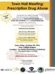 Town Hall Meeting on prescription drug abuse will be held on Friday.