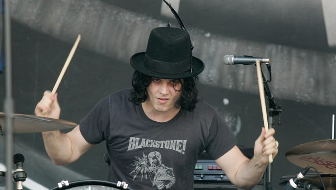 Jack White of The Dead Weather performs in 2010 at Glastonbury Festival in Glastonbury, England.
