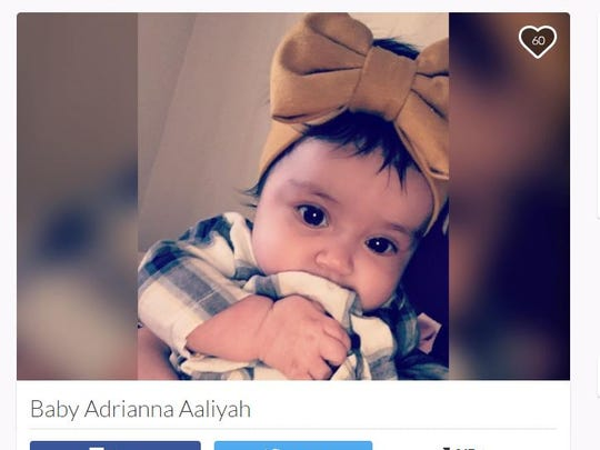 Adrianna Aaliyah died March 1, 2017. Her father is