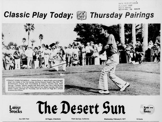 Desert Sun, February 9, 1977: STRAIGHT DOWN.THE MIDDLE