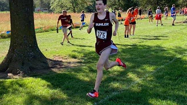 Buhler's Tanner Lindahl will be a key returner for the defending state champion Buhler boys cross country team.