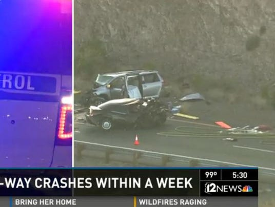 Ariz wrong-way crashes 051814
