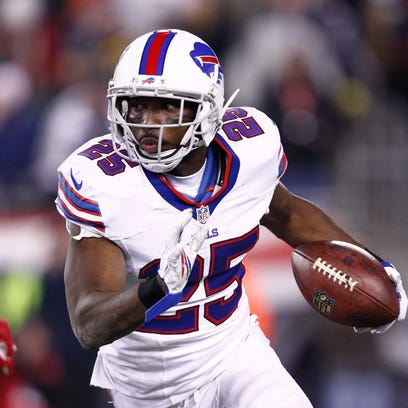 Bills running back LeSean McCoy carries the ball against