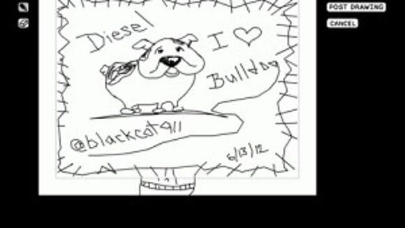 bulldog doodle