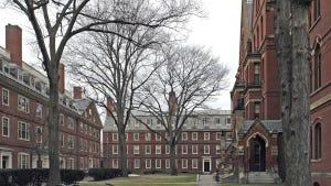 Harvard Yard at Harvard University in Cambridge, Mass.
