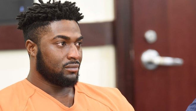 Cory Batey listens during his sentencing where he received 15 years in the Vanderbilt rape case on July 15, 2016.