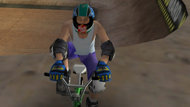 "This screen shot from ""Dave Mirra Freestyle BMX"" on PC shows the game's namesake who died Feb. 4., 2016."