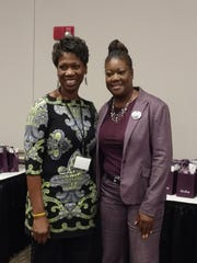 Sandra Reid, left, and Sybrina Fulton