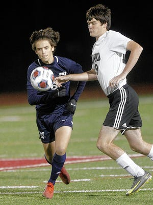 Jordan Livits (left) is among the top returnees for the Wellington boys soccer team after recording 15 goals and 19 assists last season.