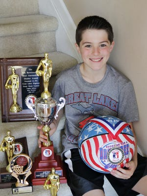 Nathan Muntean will compete later this month at a national competition for the Elks Hoop Shoot.