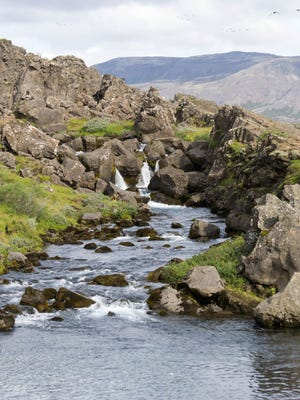 Drowing pool at Thingvellir. They primarily drowned male witches.