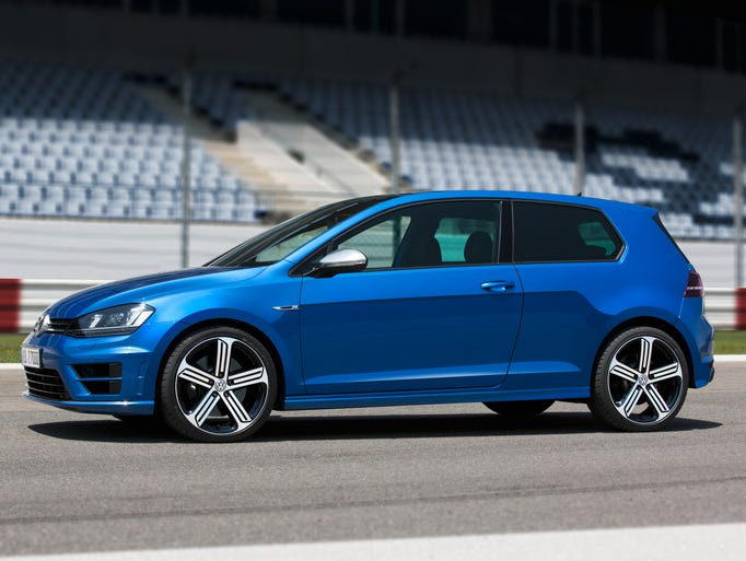 Volkswagen's most-powerful Golf R is planned for the U.S. market in early 2015. A two-door model is shown, but the U.S. only gets a four-door.