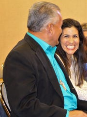 Carl and Amy Perez, co-owners of Rock Your World Decorative