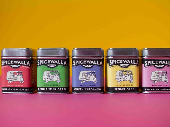 Smaller canisters from the new Spicewalla line from the Chai Pani Restaurant Group.