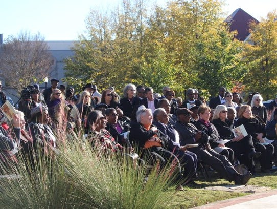 About 200 residents attended a dedication ceremony