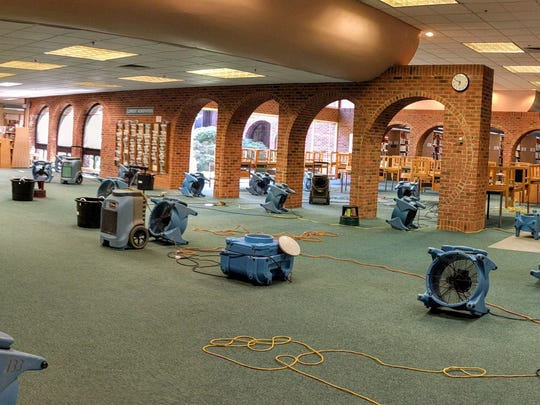 Bridgewater Library after water subsided.