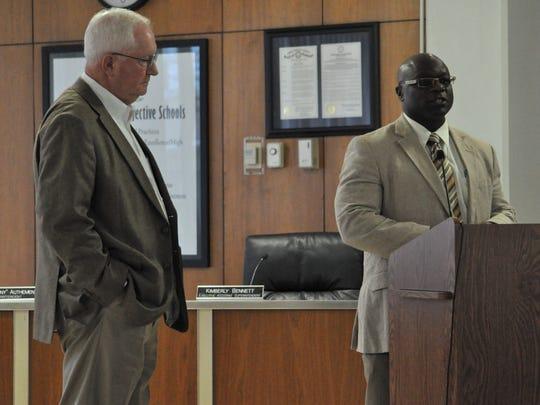 Rapides Parish Sheriff William Earl Hilton (left) and