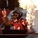 Dec 27, 2015; Atlanta, GA, USA; Atlanta Falcons running