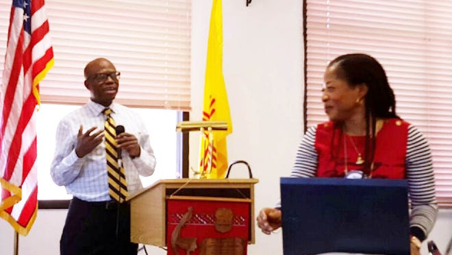 Dr. Victor Nwachuku and Nkechi Nwachuku spoke at the Silver City Rotary Club on Tuesday. The couple discussed their recent trip to Nigeria.