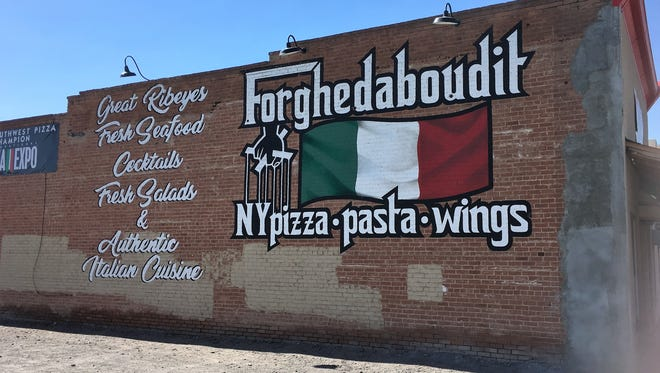 The Forghedaboudit restaurant is visible from the I-10 at its location on N. Silver Avenue in Deming.