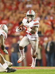 Ohio State coach Urban Meyer said the Buckeyes are working on packages that would use Mike Weber (shown here) and fellow tailback J.K. Dobbins together.