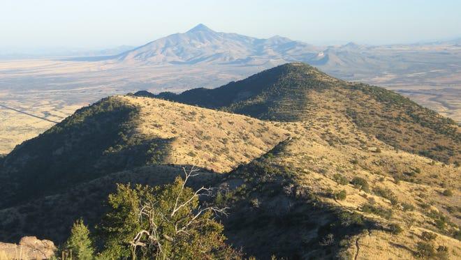 The view from Coronado Peak, Coronado National Memorial.