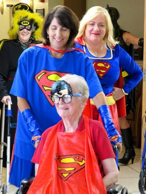 McAuley Hall Health Care Center in Watchung recently held a Superhero-themed event in which staff and residents dressed as their favorite comic book character.