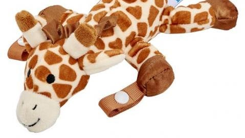 A Dr. Brown's Lovey pacifier holder. The company recalled about 600,000 of the holders.
