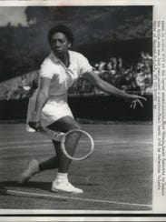 In this 1958 file photo, Althea Gibson of New York