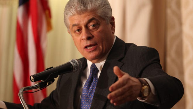 Judge Andrew Napolitano, who is also the senior judicial analyst on Fox News channel, speaks during a meeting of the 200 Club of Sussex County at the Lake Mohawk Country Club in Sparta Tuesday, December 4, 2012.
