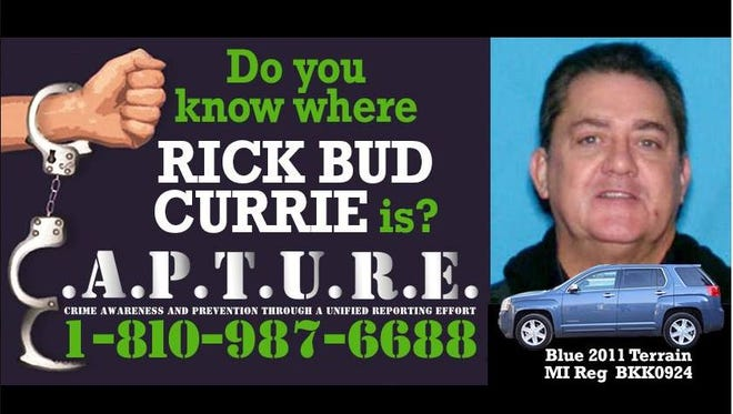 Rick Currie has been found and arrested near Jasper, Florida, on Friday, Feb. 2, 2018.
